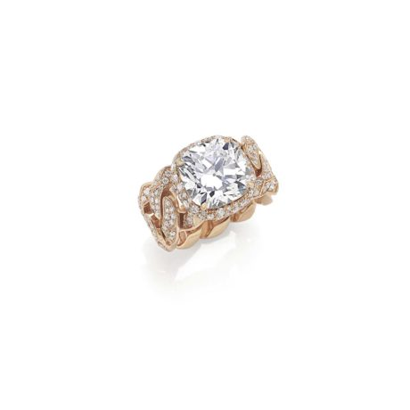 Rock Cushion Diamond / Rose Gold